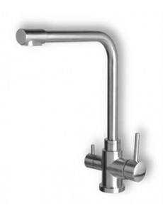 Flick Mixer goose neck with separate pure water outlet 289ss